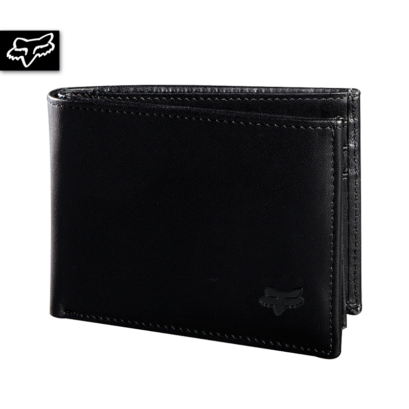 BIFOLD LEATHER WALLET BLK