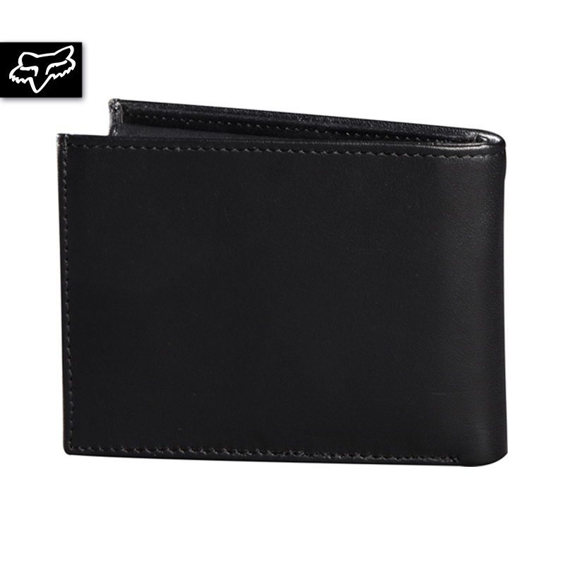 BIFOLD LEATHER WALLET (BLK)