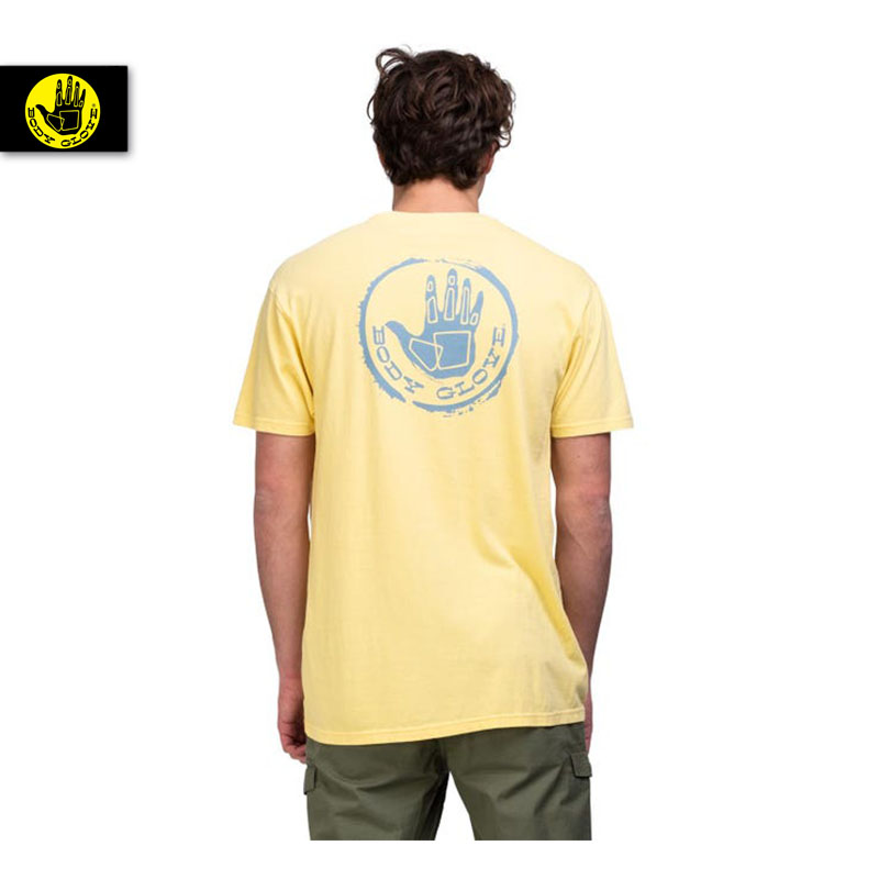 BODY GLOVE T-SHIRT STAMPED TEE LEMON